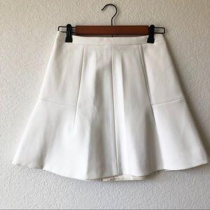 NWOT J.CREW Soft White Flared Skirt, Size 00